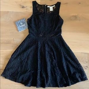 American Rag Fit and Flare Black Lace Dress